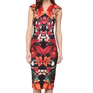 Ted Baker bismii tropical toucan dress size 2